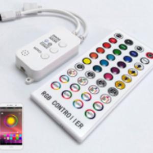 Bluetooth RGB LED Controller Music Sync with 40 Key IR Remote
