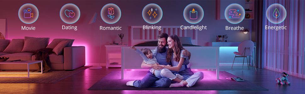 music sync rgb led strip wifi bluetooth tuya smart