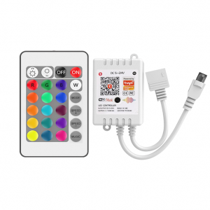 tuya smart wifi rgb led controller 24 key IR remote music sync