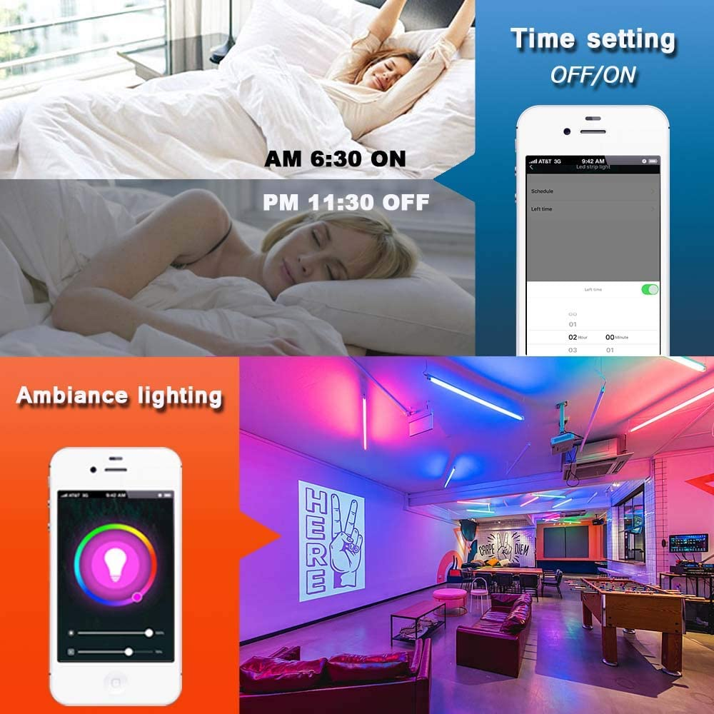 tuya smart wifi rgb led controller alexa music sync