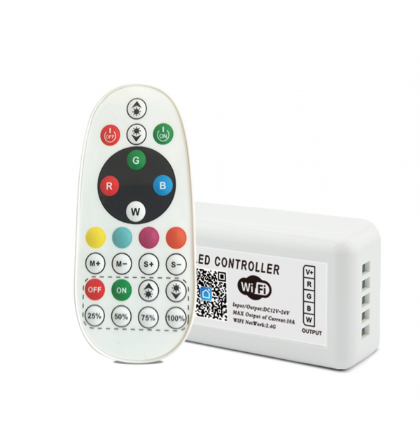 tuya wifi rgbw led controller with rf remote